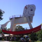 巨大な木馬 in Toy Factory