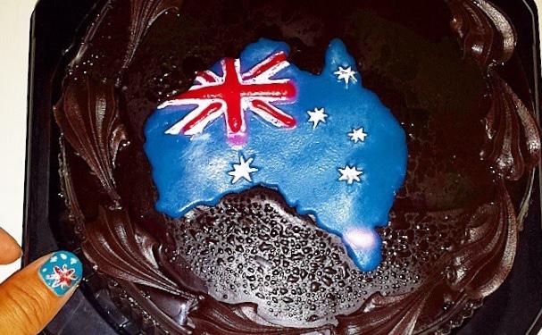1月26日の複雑なオーストラリアデーの背景