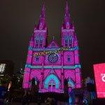 毎年恒例セントメアリー大聖堂のライトアップでクリスマス