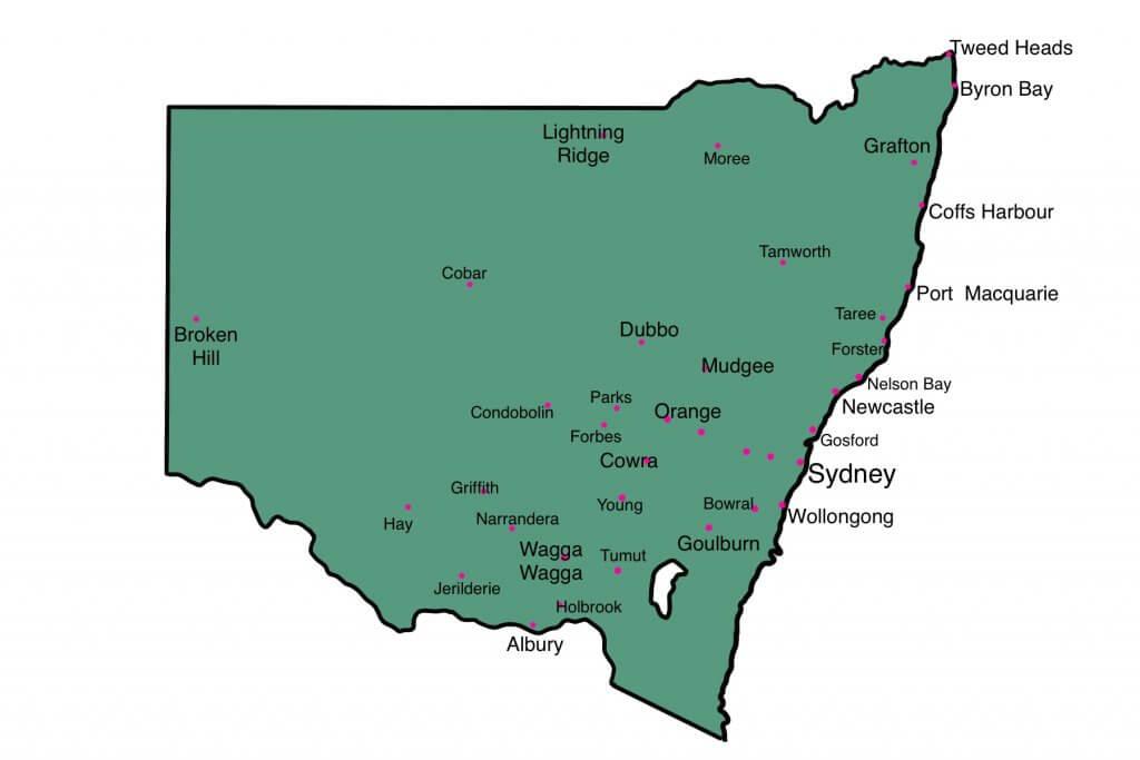 NSW 地図