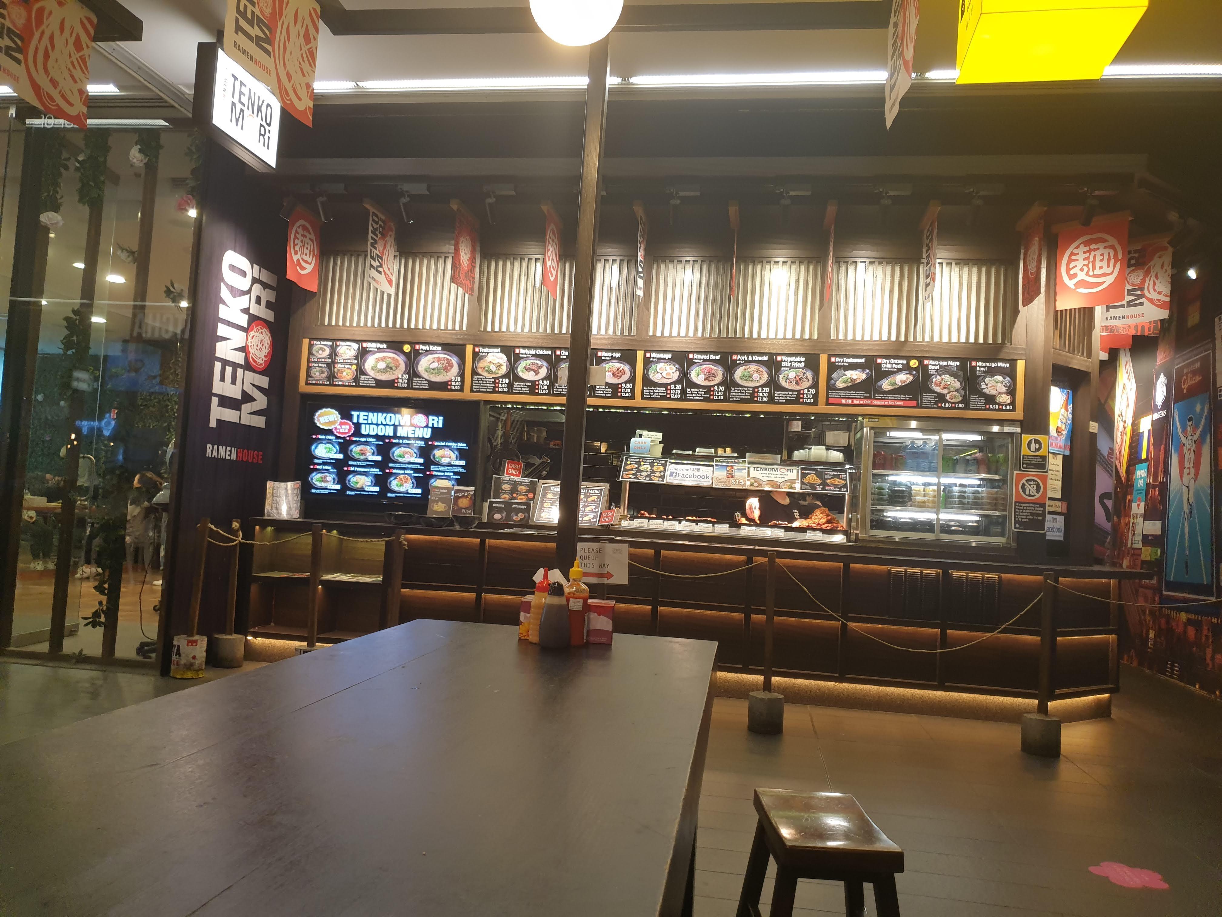 シドニーでいちばん安い Tenkomori (てんこもり) のラーメン