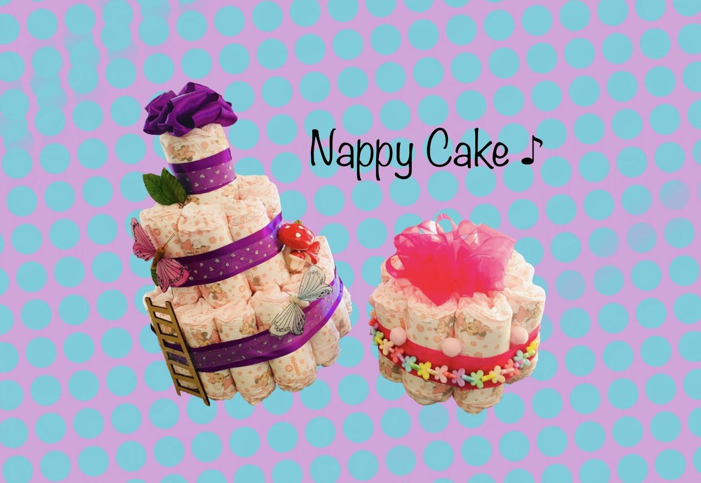 出産祝にオムツのケーキ (Nappy Cake)を作ってみた!