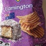 ラミントン味のポテトチップス⁉︎ミートパイ味もあるよ!