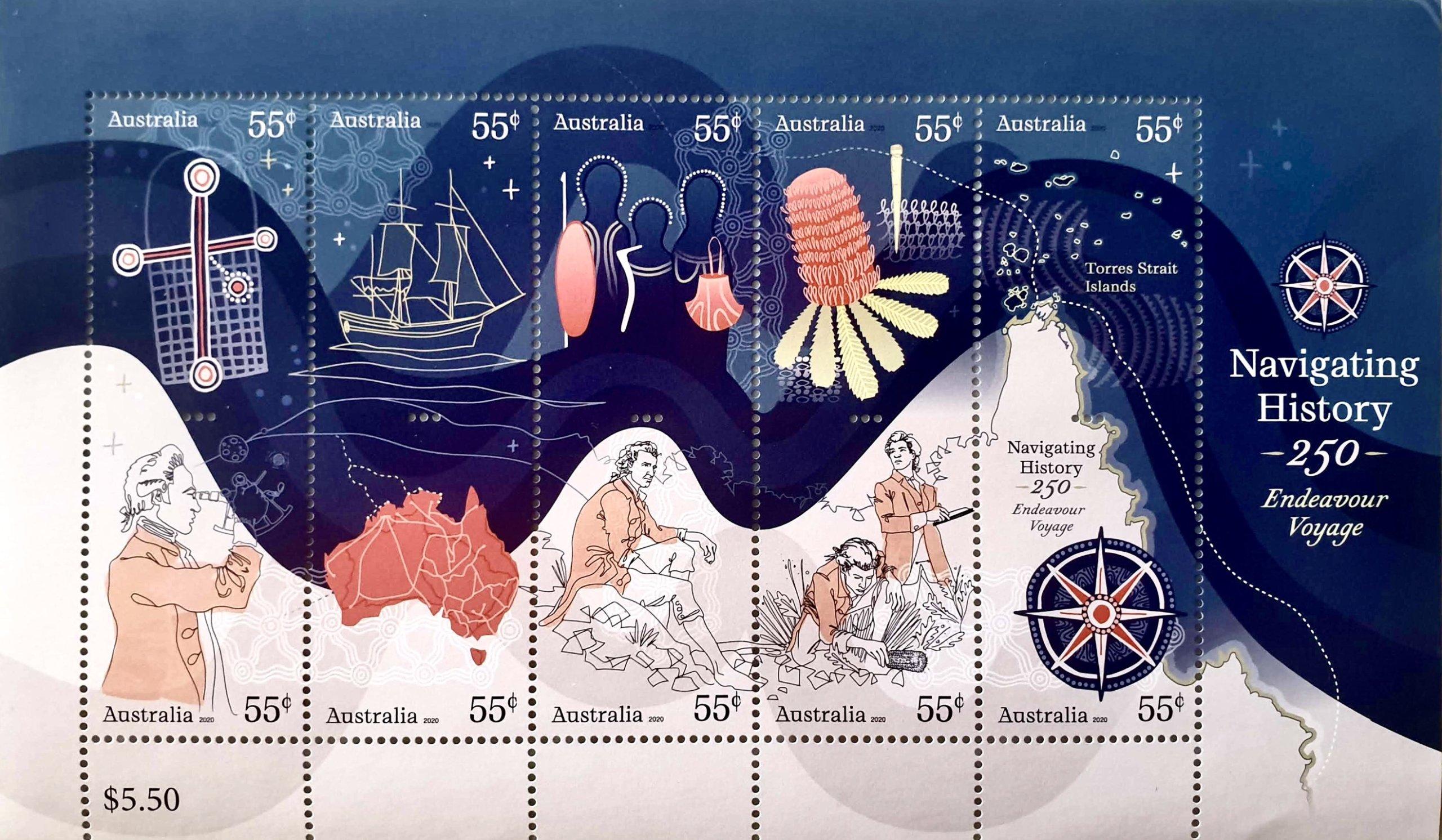 何度も眺めたくなるジェームス・クックの250周年記念切手