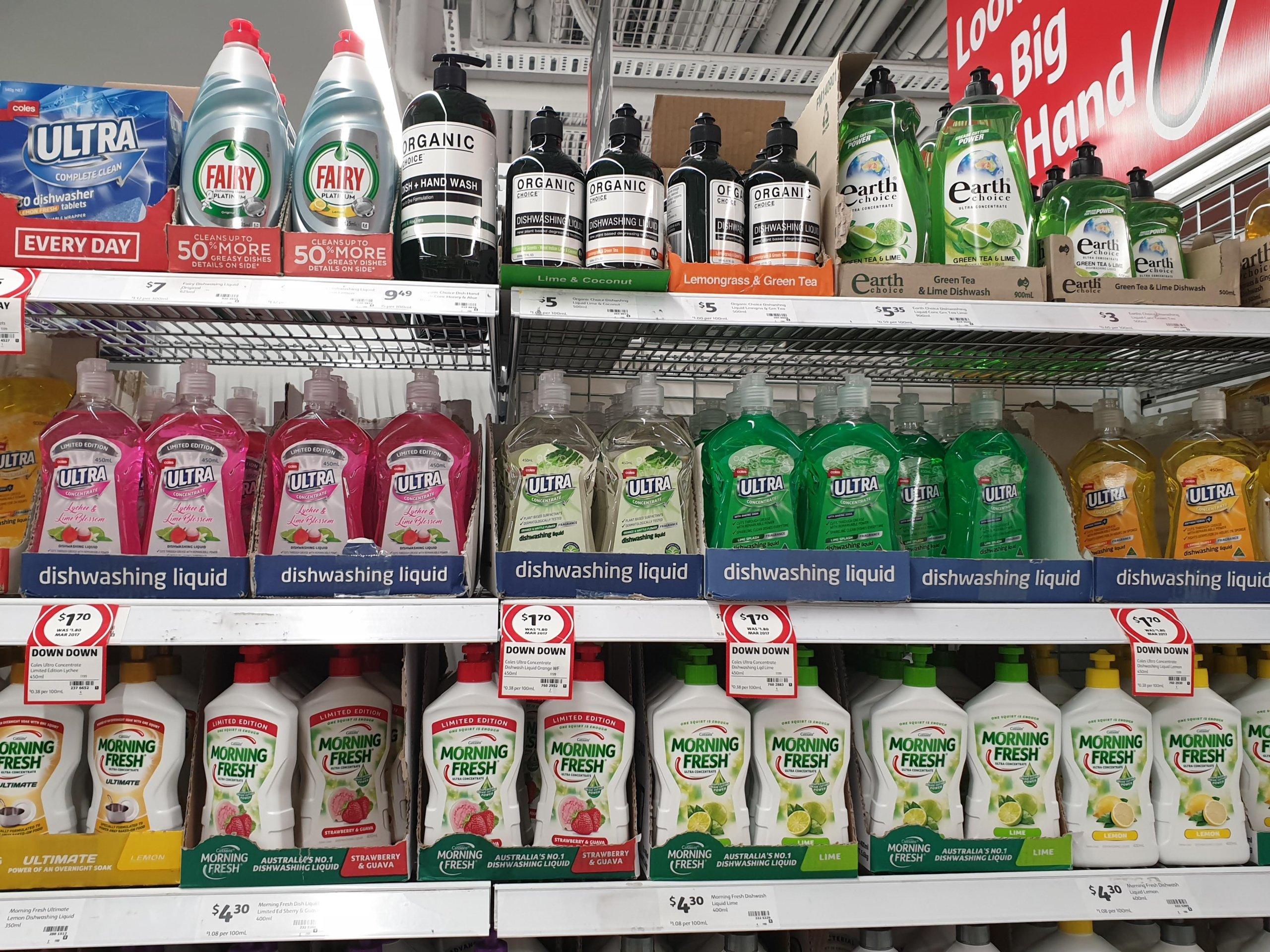 オーストラリアで食器用洗剤、何を使ってますか?