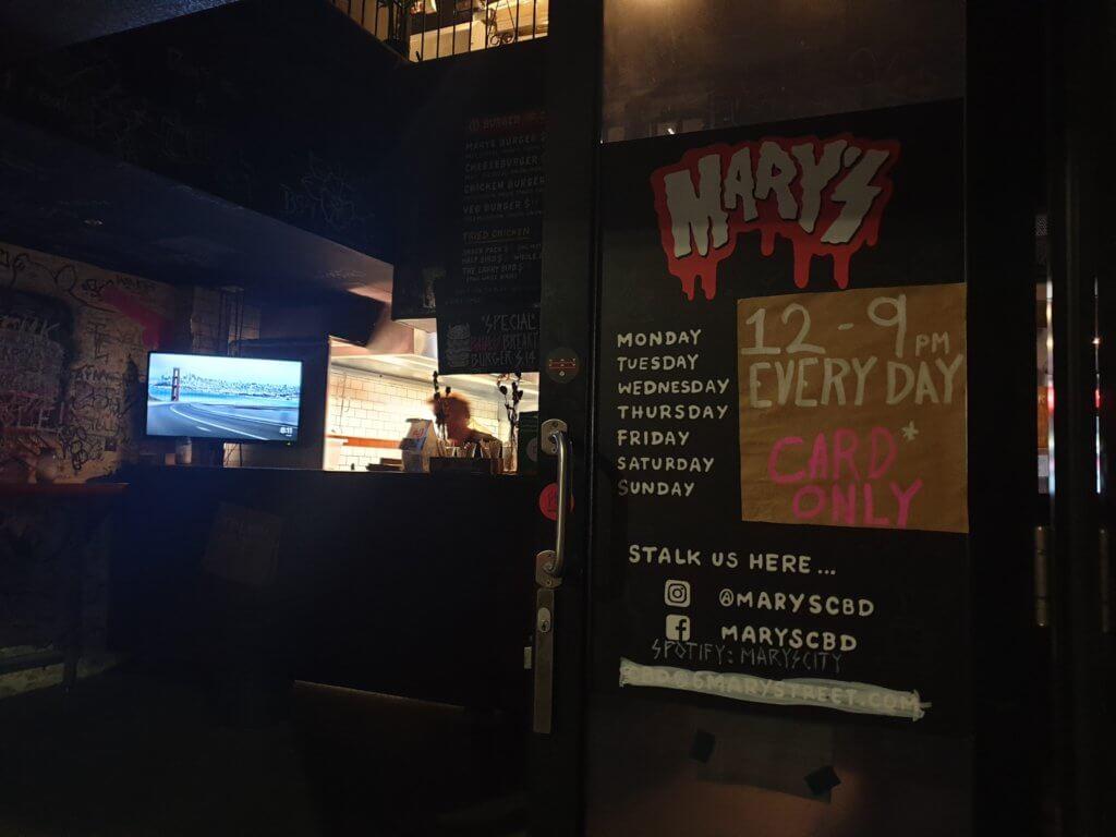 Mary's hamburger