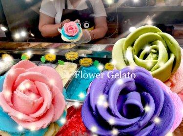 バラの形をしたフラワージェラートが買える『I-creamy Artisan Gelato』