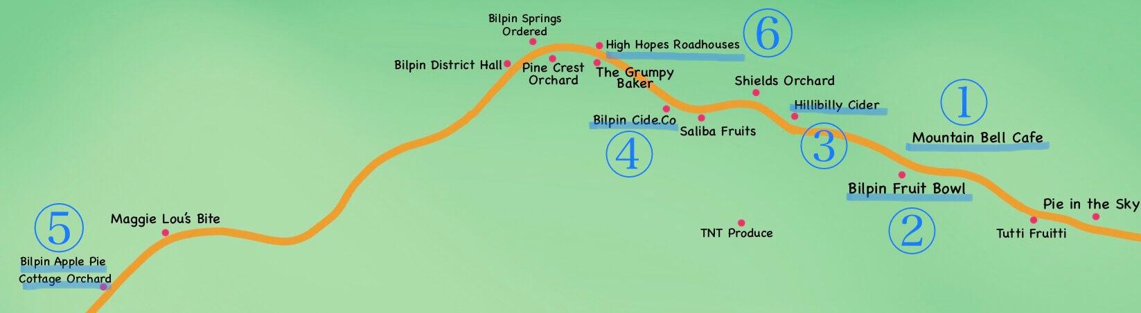 Bilpin Map