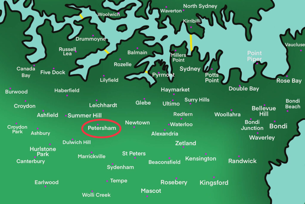 Petersham map