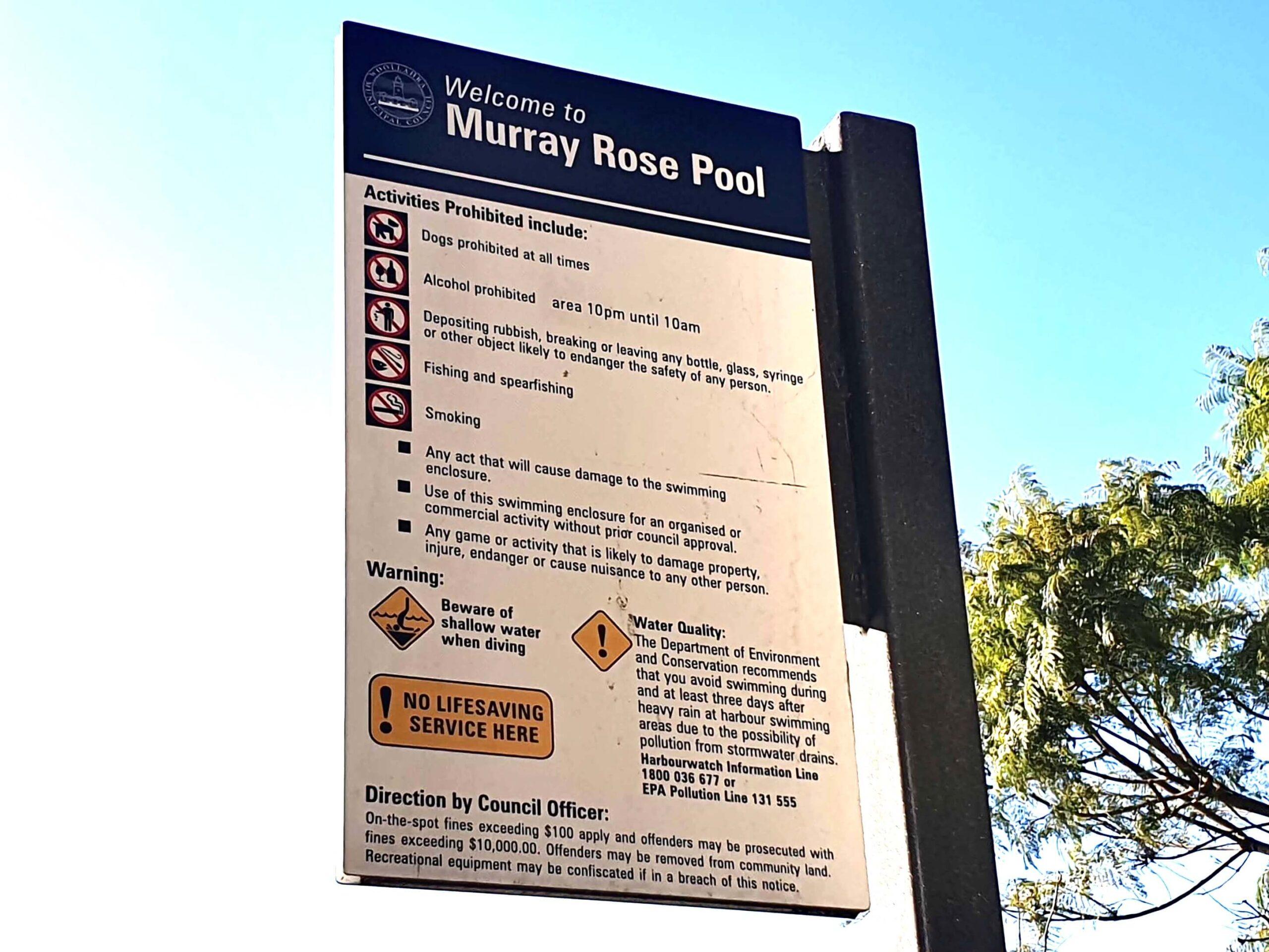 Murray Rose Pool, Seven Shillings Beach