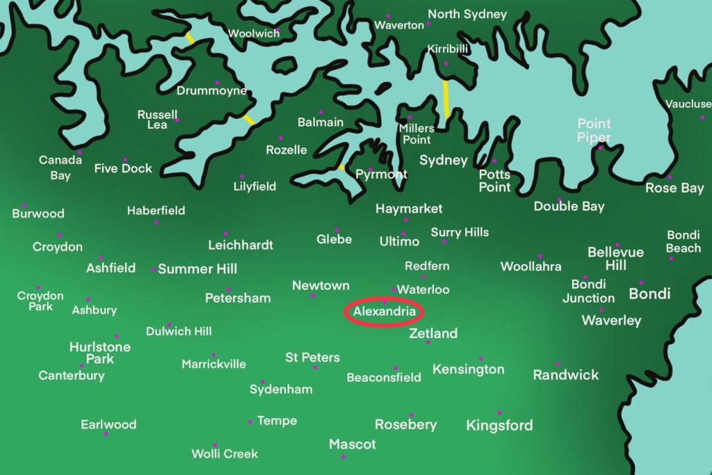 Alexandra Map